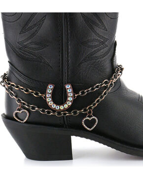 Shyanne® Women's Horseshoe Boot Bracelet, Brown, hi-res