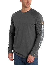 Carhartt Men's Delmont Long Sleeve T-Shirt, , hi-res