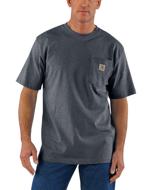 Carhartt Short Sleeve Pocket Work T-Shirt, Grey, hi-res