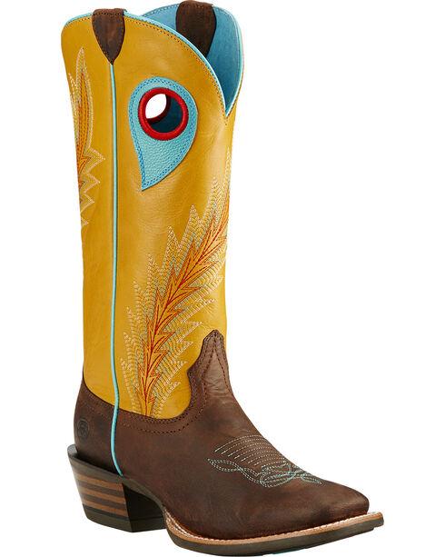 Ariat Mustard Desperado Western Boots, Brown, hi-res