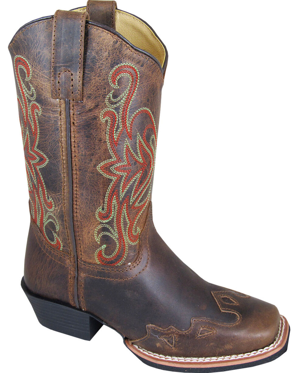 Smoky Mountain Boys' Rialto Western Boots - Square Toe, Brown, hi-res