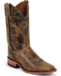 Justin Men's Distressed Road Square Toe Western Boots, , hi-res