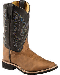 Swift Creek Boys' Cowboy Boots - Square Toe, , hi-res