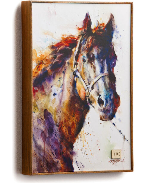 Big Sky Carvers Poncho Horse Canvas Wall Decor, Multi, hi-res