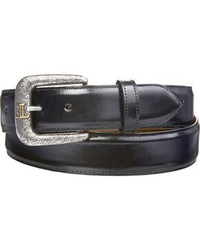 Lucchese Men's Smooth Black Goat Leather Belt, Black, hi-res