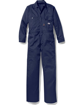 Rasco Men's Navy FR Heavyweight Coveralls , Multi, hi-res