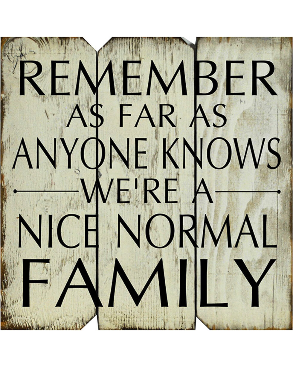 Boulder Innovations Nice Normal Family Wooden Sign, No Color, hi-res