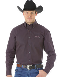 Wrangler Tough Enough to Wear Pink Men's Polka Dot Shirt, , hi-res
