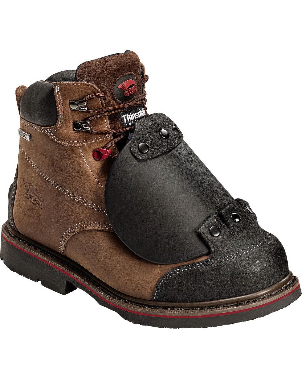 Avenger Men's Composite Toe Slip On Work Boots, Brown, hi-res