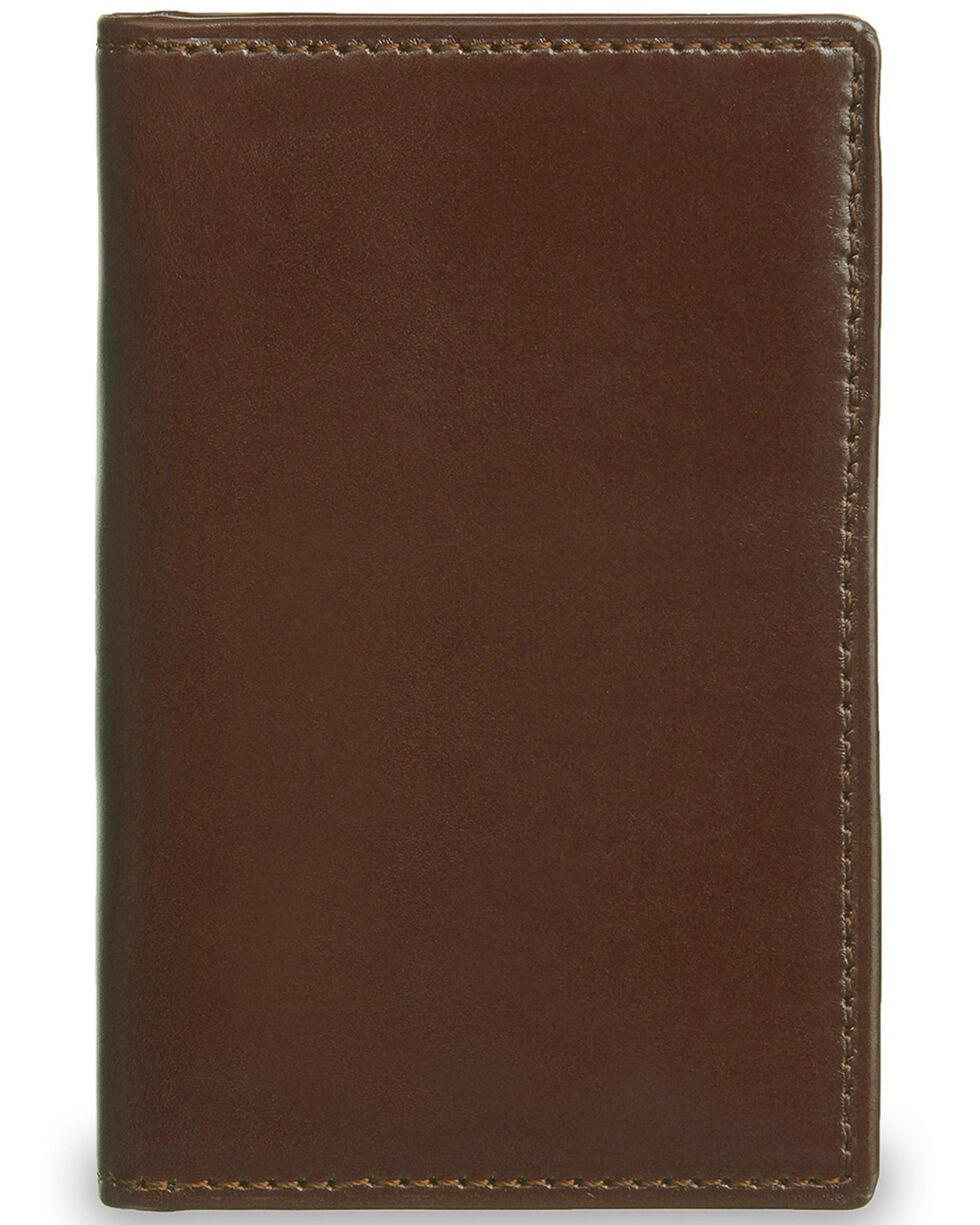 Lucchese Men's Sienna Leather Vertical Bi-Fold Wallet, Brown, hi-res