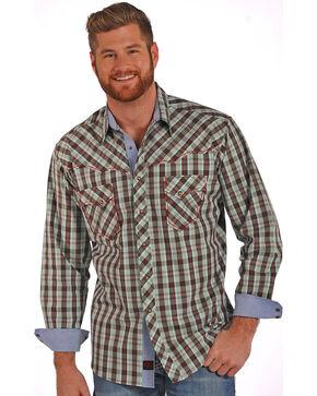 Panhandle Slim Men's 90 Proof Snap Front Shirt , Brown, hi-res