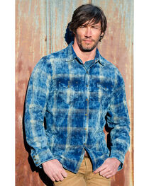 Ryan Michael Men's Midnight Sky Corduroy Plaid Shirt, , hi-res