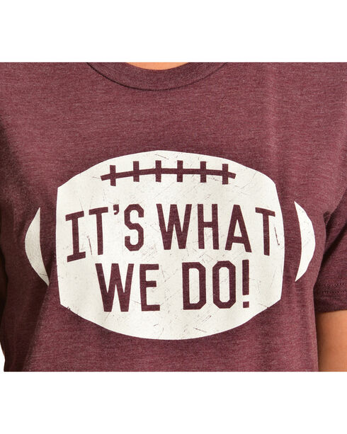 "ATX Mafia ""It's What We Do"" Maroon Tee, Maroon, hi-res"