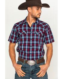 Cody James Men's Plaid Print Short Sleeve Shirt, , hi-res