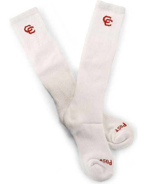 Dan Post Cowgirl Certified Over-the-Calf Socks, White, hi-res
