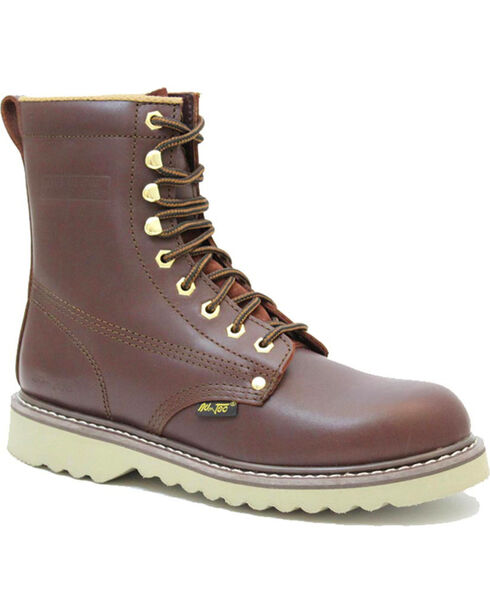 Ad Tec Men's Lace-Up Soft Toe Work Boots, Brown, hi-res