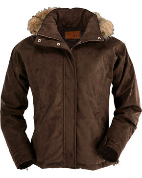 Outback Trading Co. Women's Micro Fleece Coat, Brown, hi-res