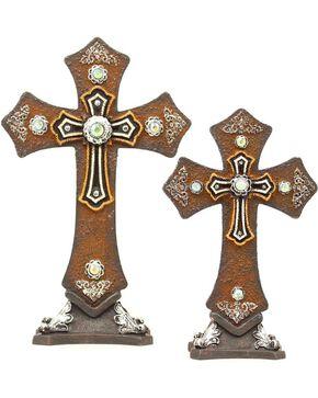 Table Crosses - Set of 2, Brown, hi-res