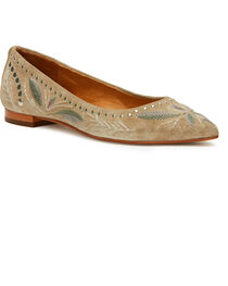 Frye Women's Ash Sienna Embroidered Ballet Flats - Pointed Toe, , hi-res