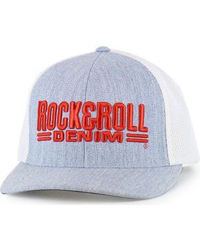 Rock & Roll Denim Men's Logo Snapback Ball Cap, Grey, hi-res