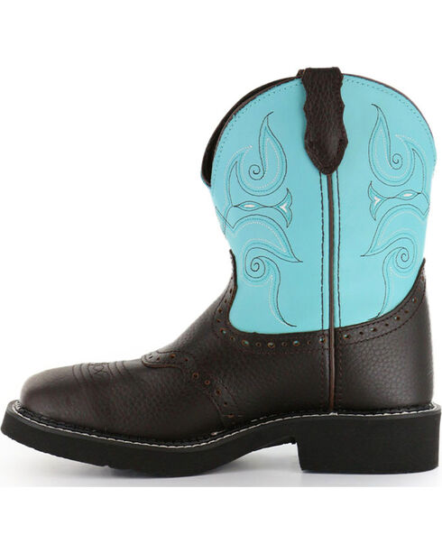 """Justin Women's 8"""" Square Toe Gypsy Western Boots, Brown, hi-res"""