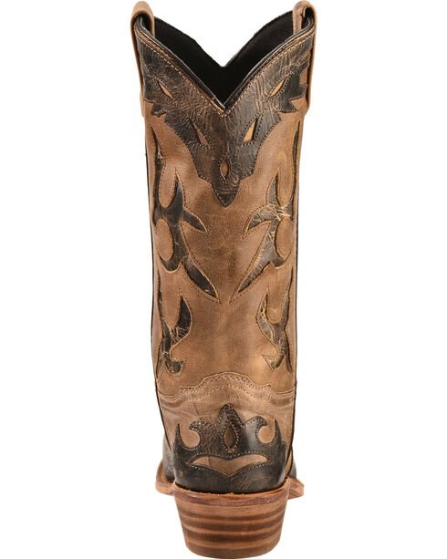 "Abilene Women's 11"" Two-Tone wingtip Western Boots, Tan, hi-res"