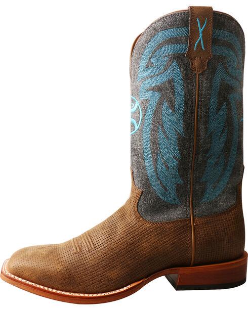 Twisted X Men's Hooey Denim Cowboy Boots - Square Toe, Brown, hi-res