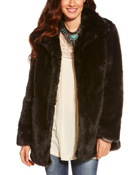 Ariat Women's Lux Fur Jacket, Black, hi-res