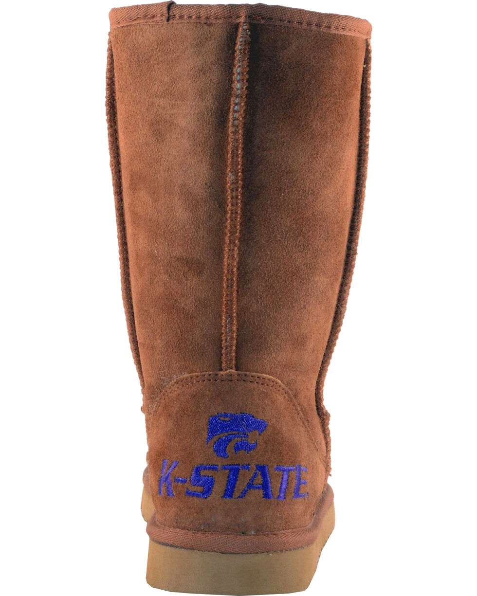 Gameday Boots Women's Kansas State University Lambskin Boots, Tan, hi-res