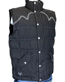Cowboy Hardware Men's Triple Barbwire Vest, , hi-res