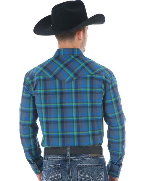 Wrangler 20X Advanced Comfort Men's Blue Plaid Shirt, Blue, hi-res
