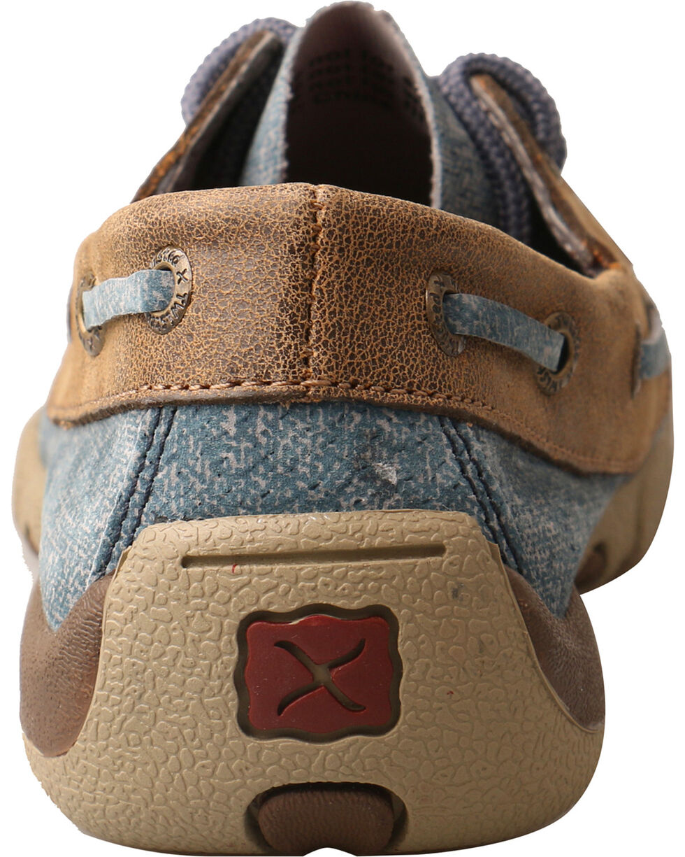 Twisted X Kids' Denim Driving Moc Shoes, Multi, hi-res