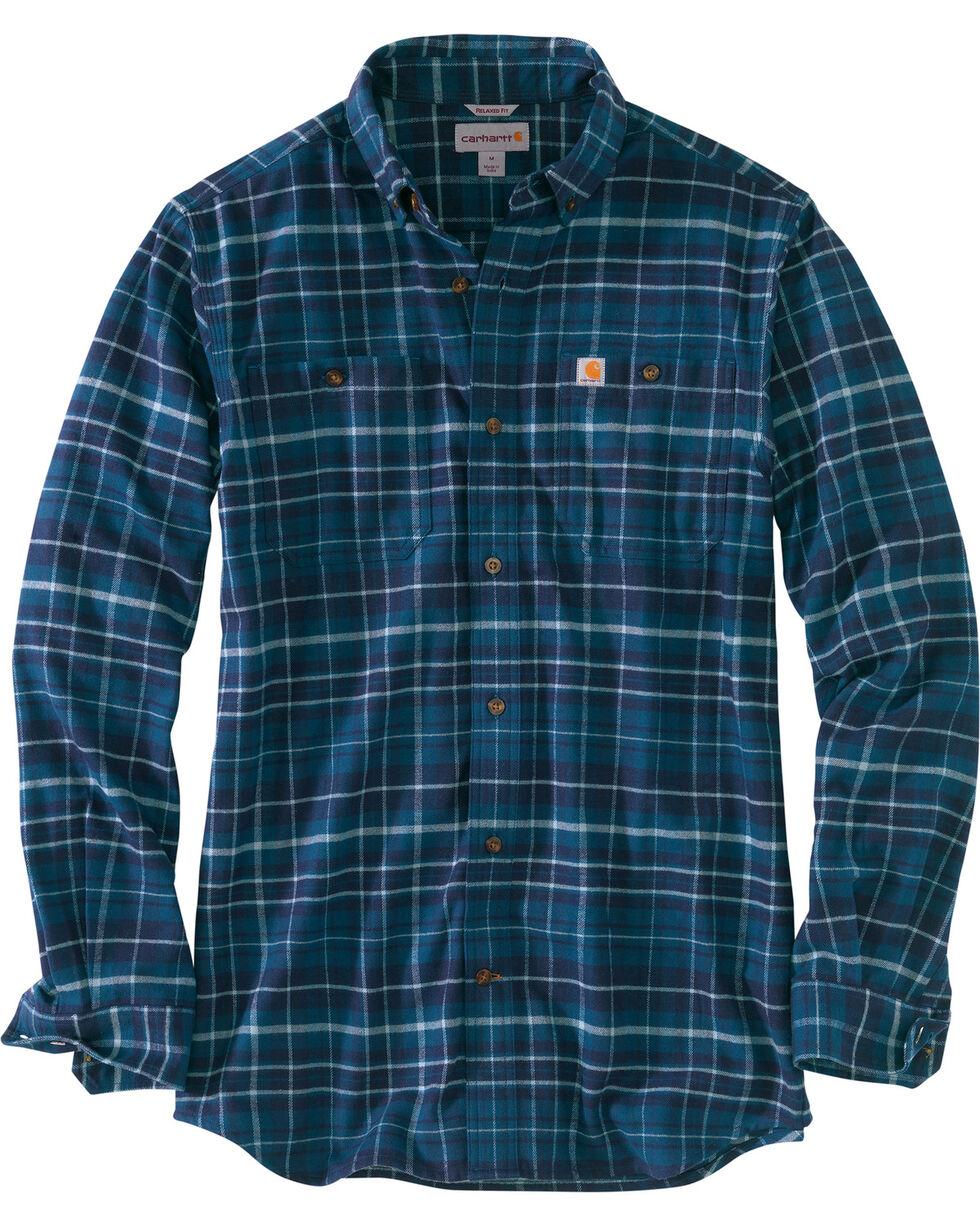 Carhartt Men's Trumbull Plaid Shirt , Medium Blue, hi-res