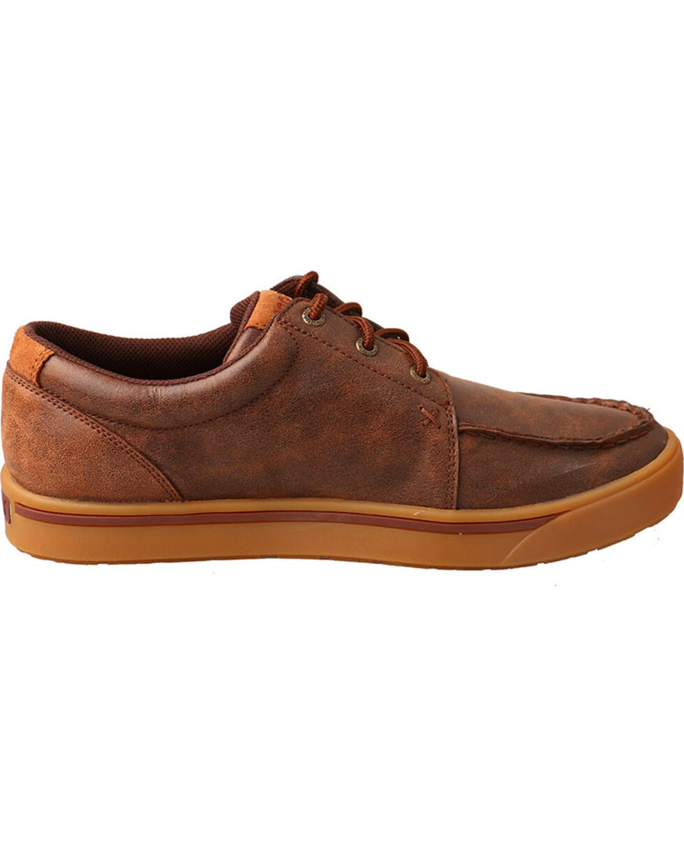 HOOey Twisted X Men's Leather Lace-Up Shoes, Brown, hi-res