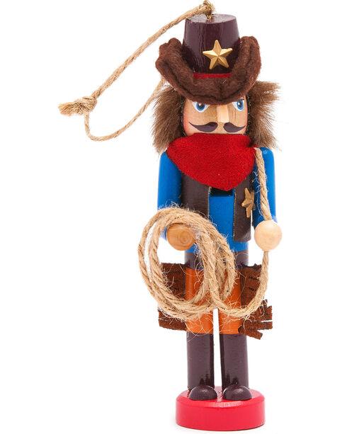 BB Ranch Cowboy Nutcracker Ornament, No Color, hi-res