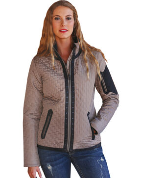 Cruel Girl Women's Quilted Western Jacket, Khaki, hi-res