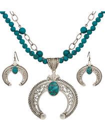 Montana Silversmiths Turquoise Squash Blossom Jewelry Set, , hi-res