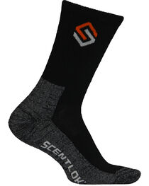 Scentlok Technologies Men's Black Everyday Socks, , hi-res