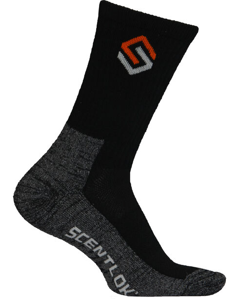 Scentlok Technologies Men's Black Everyday Socks, Black, hi-res