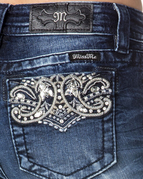 Miss Me Women's Indigo Perfect Paisley Jeans - Boot Cut , Indigo, hi-res