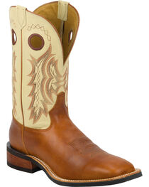 Tony Lama Suntan Rebel Americana Cream Top Cowboy Boots - Square Toe , , hi-res