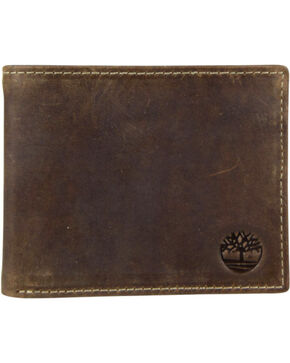 Timberland Men's Crazy Horse Leather Passcase Wallet , Brown, hi-res