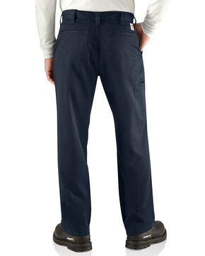 Carhartt Men's Flame Resistant Work Pants, Navy, hi-res
