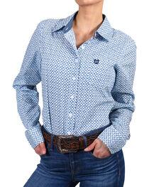 Shyanne Women's Print Long Sleeve Western Shirt, , hi-res