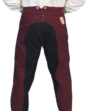 Wahmaker by Scully Cotton Saddle Cut Stripe Pants - Tall, Burgundy, hi-res