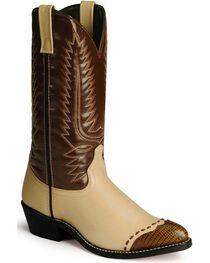 Laredo Men's Flagstaff Wingtip Western Boots, , hi-res