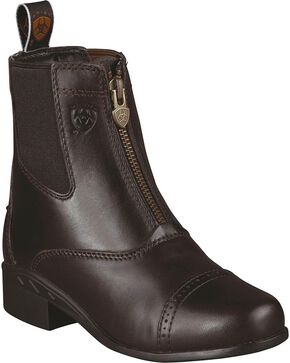Ariat Kid's Devon III Paddock Boots, Chocolate, hi-res