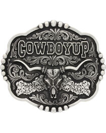 Montana Silversmiths Men's Cowboy Up Attitude Buckle, , hi-res