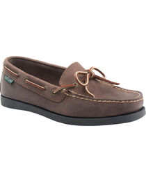 Eastland Women's Bomber Brown Yarmouth Camp Moc Slip-Ons, , hi-res