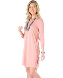 Wrangler Women's Rose Fringe Knit Dress, , hi-res